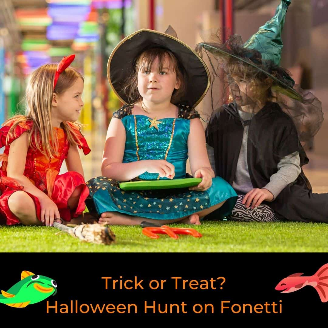 Halloween Hunt on Fonetti with kids